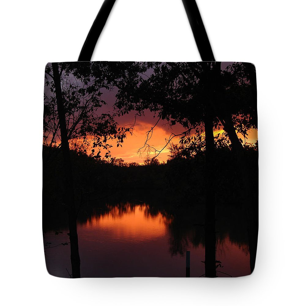 Sunset Tote Bag featuring the photograph I Found Red October by J R Seymour