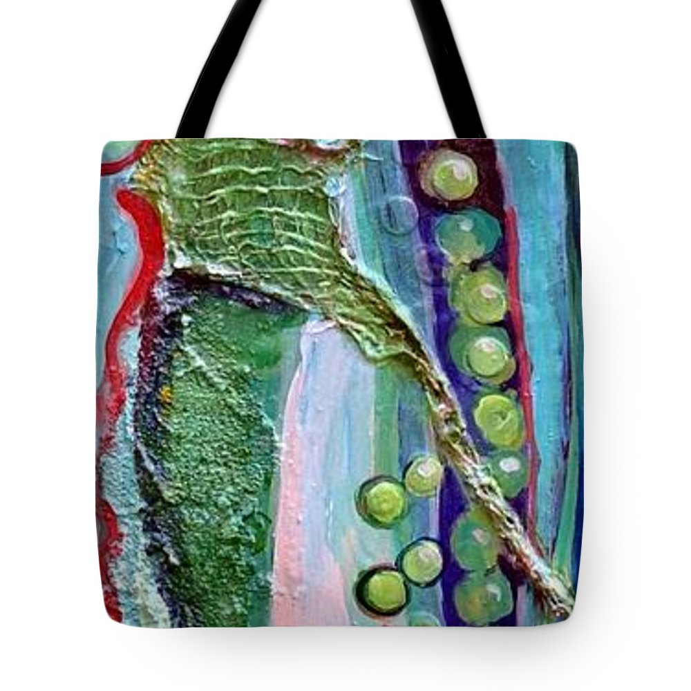 Peas Tote Bag featuring the painting I Give You Peas by Ginger Concepcion
