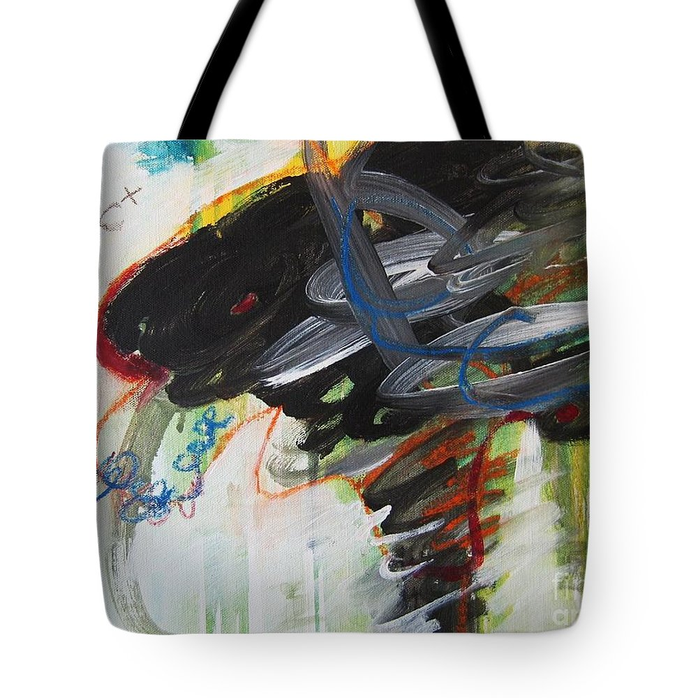 Abstract Paintings Paintings Abstract Art Paintings Tote Bag featuring the painting I Got D by Seon-Jeong Kim