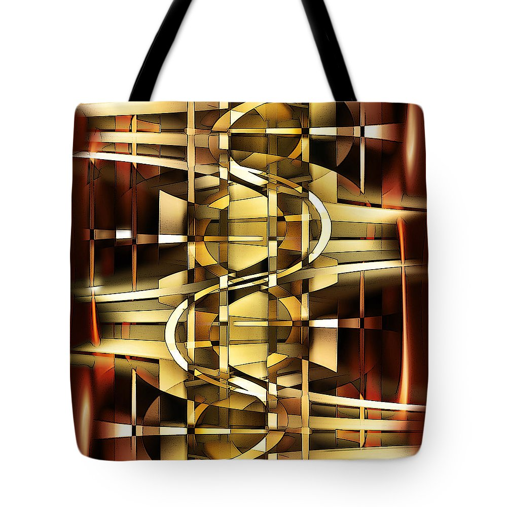 Digital Tote Bag featuring the digital art I Hate It When The Stairs Are Out Of Order by Andy Young