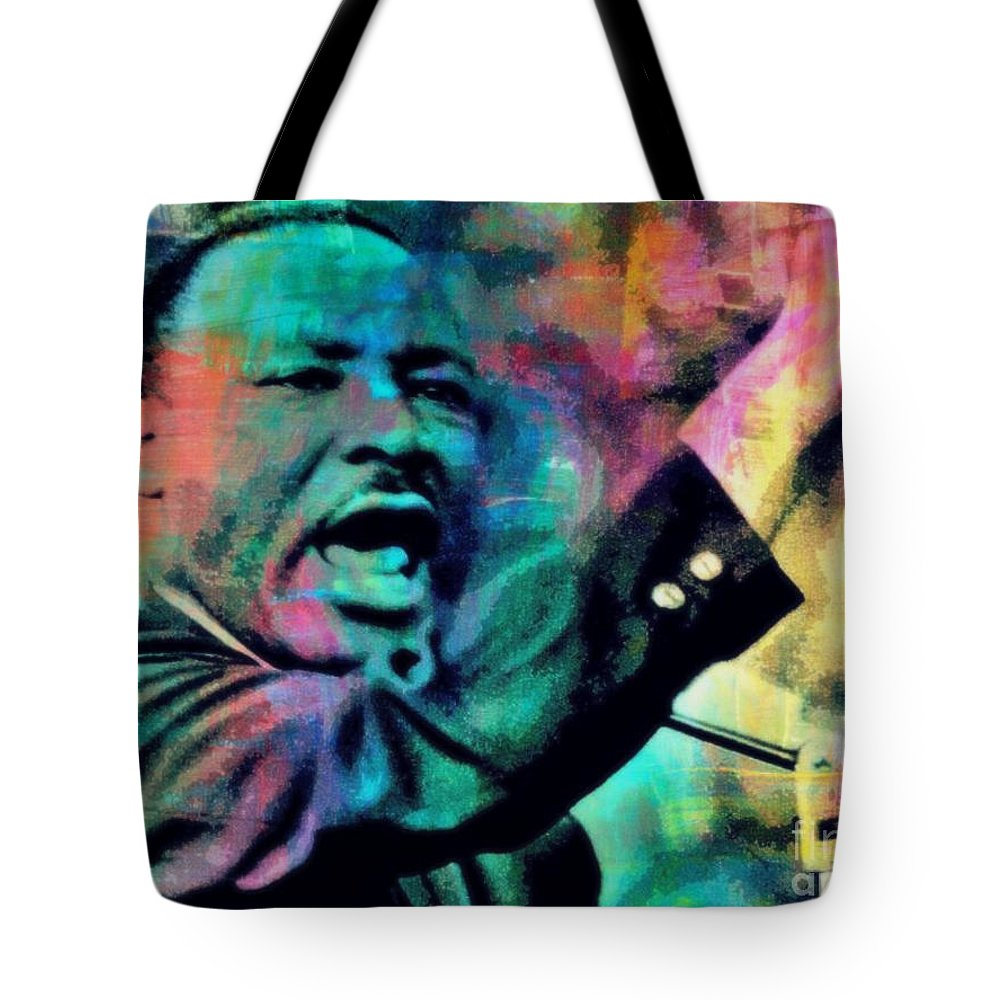 Civil Rights Tote Bag featuring the painting I Have A Dream by Wbk