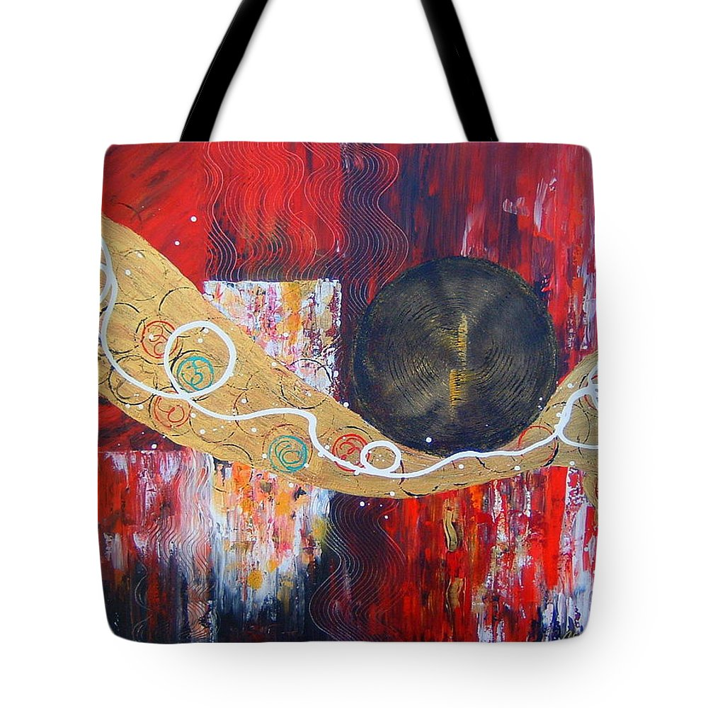 Abstract Tote Bag featuring the painting I Hear Music by Cheryl Ehlers