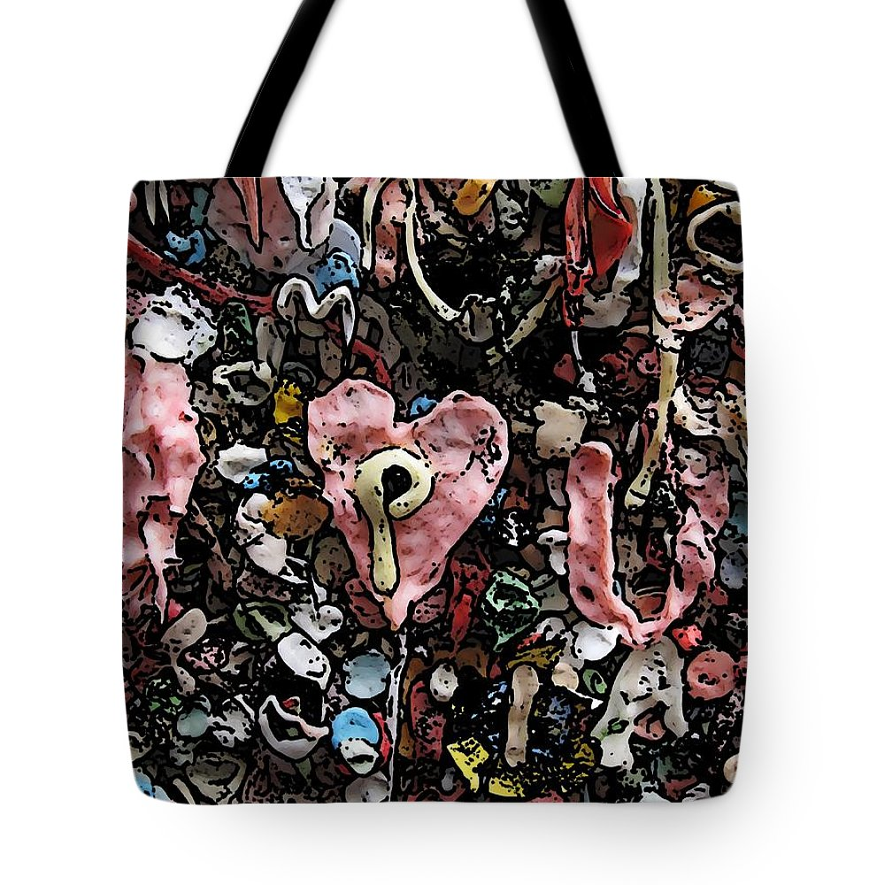Heart Tote Bag featuring the digital art I Heart You by Tim Allen