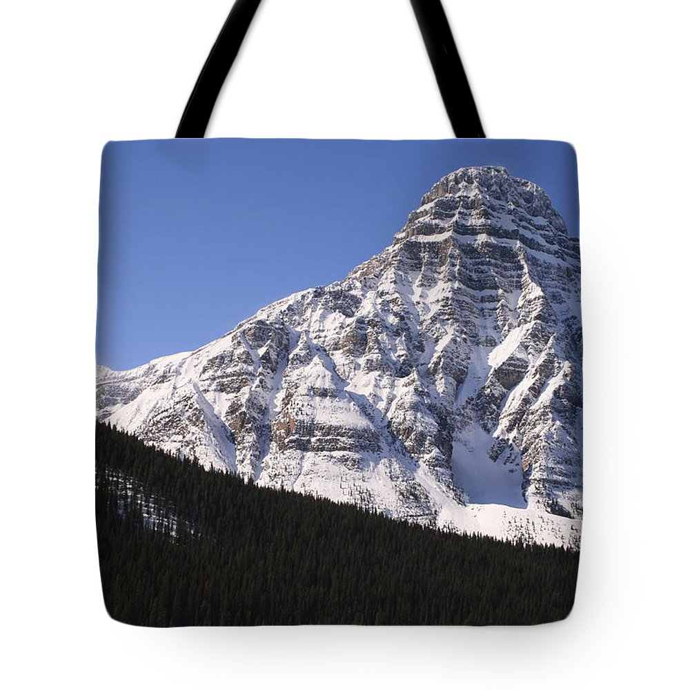 Rocky Mountains Tote Bag featuring the photograph I Love The Mountains Of Banff National Park by Tiffany Vest