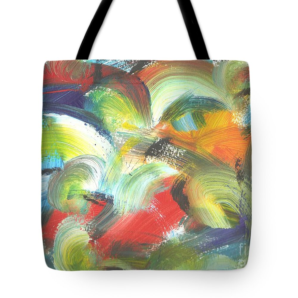 Birds Tote Bag featuring the painting I See Birds by Myrtle Joy