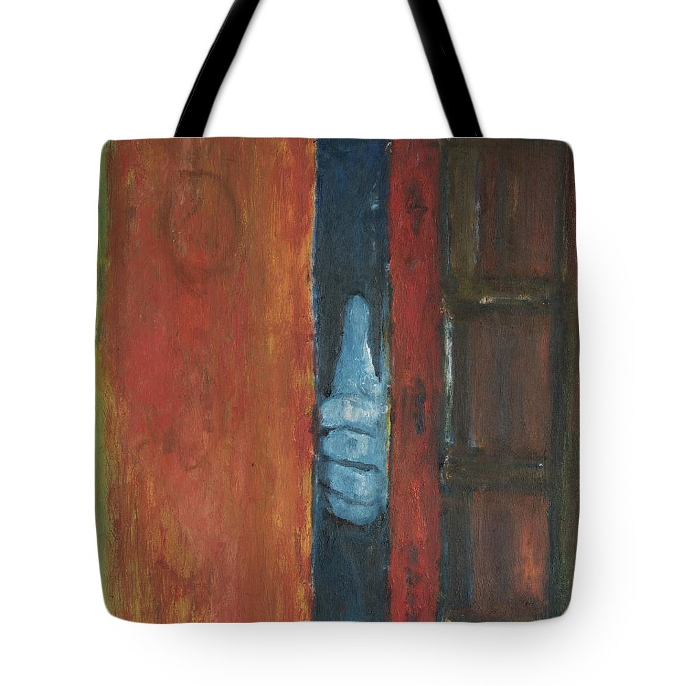 Door Tote Bag featuring the painting I See You by Craig Newland