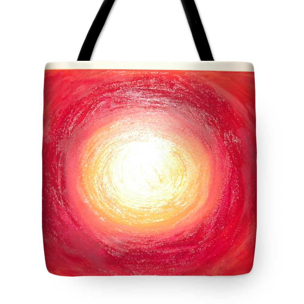 Stole The Sun Tote Bag featuring the painting I Stole The Sun From The Sky For You by Julie Jones