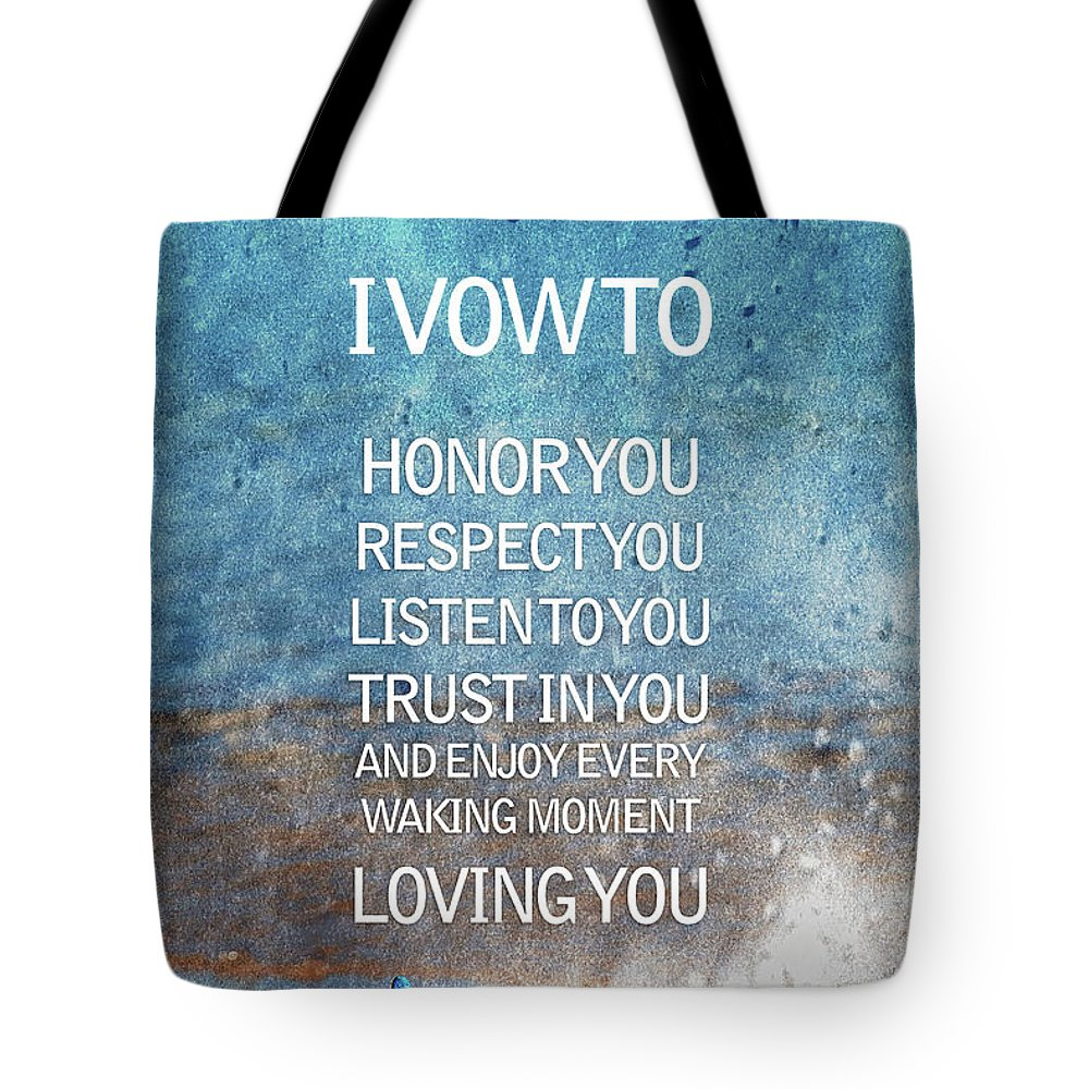 I Vow To Honor Tote Bag featuring the photograph I Vow To... by Az Jackson