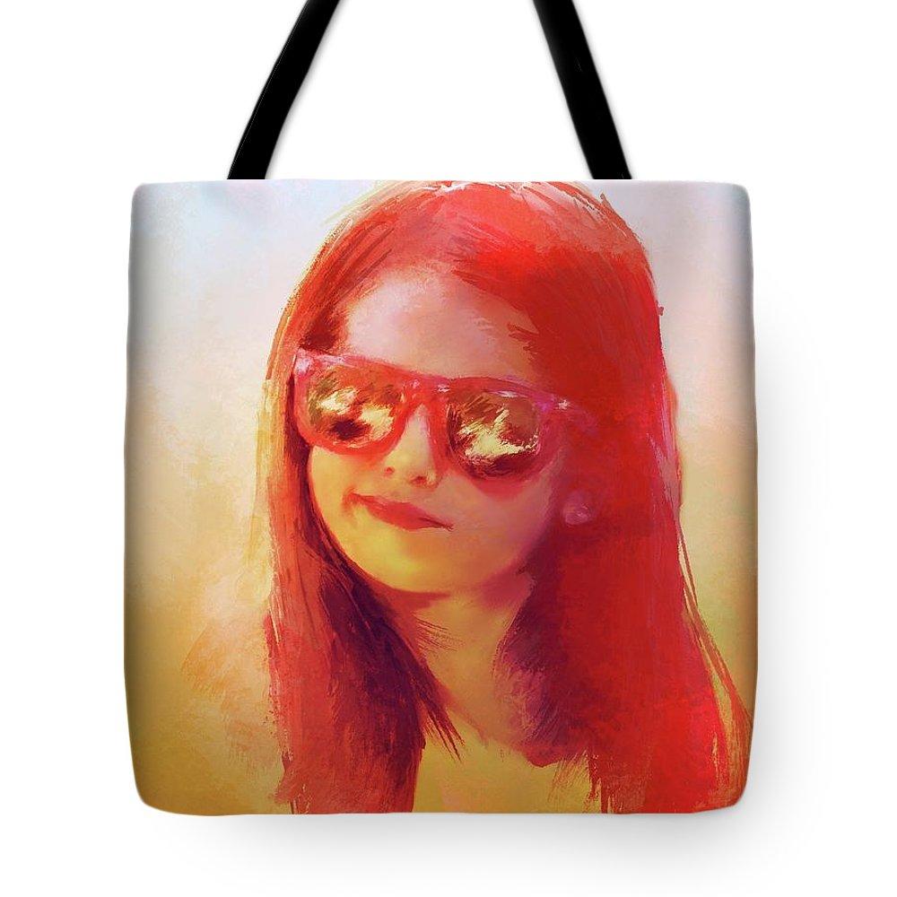 Girl Tote Bag featuring the digital art I Wanna Be A Moviestar by Richard Okun