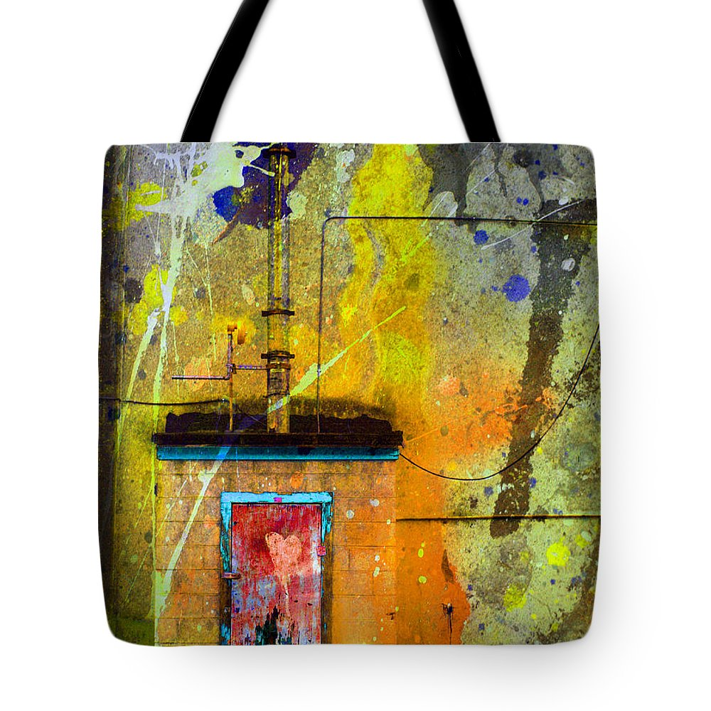 Door Tote Bag featuring the photograph I Wear My Heart On The The Door by Tara Turner