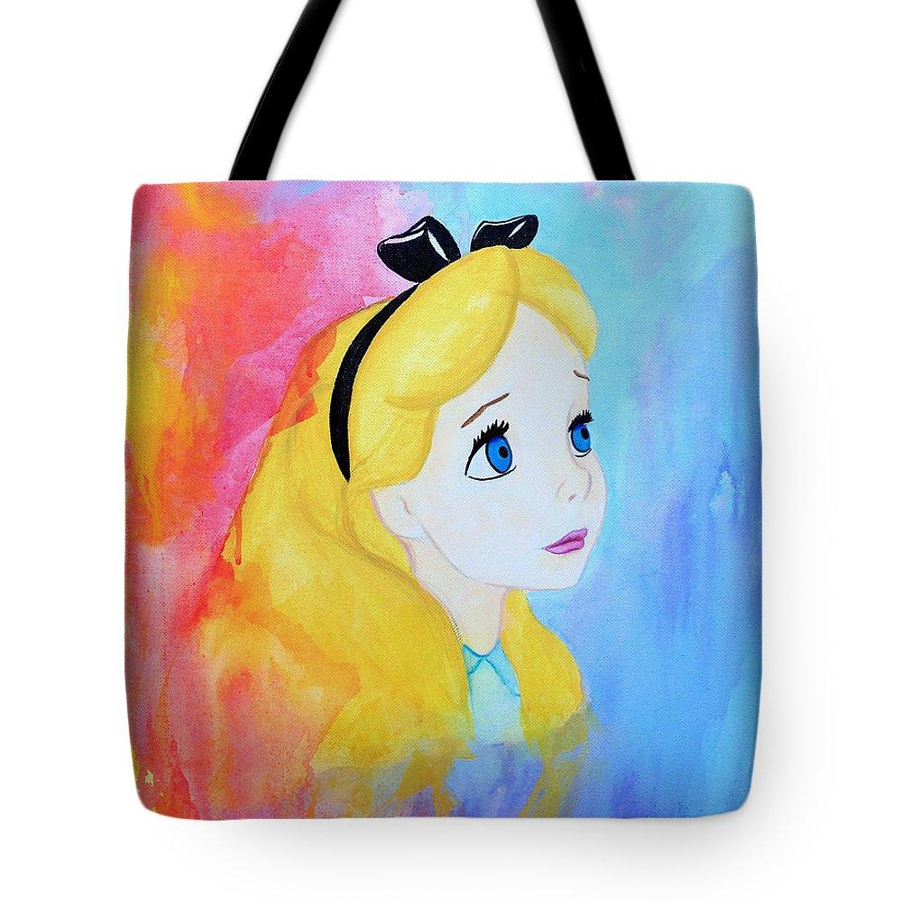 Art Tote Bag featuring the painting I Wonder by Lynsie Petig