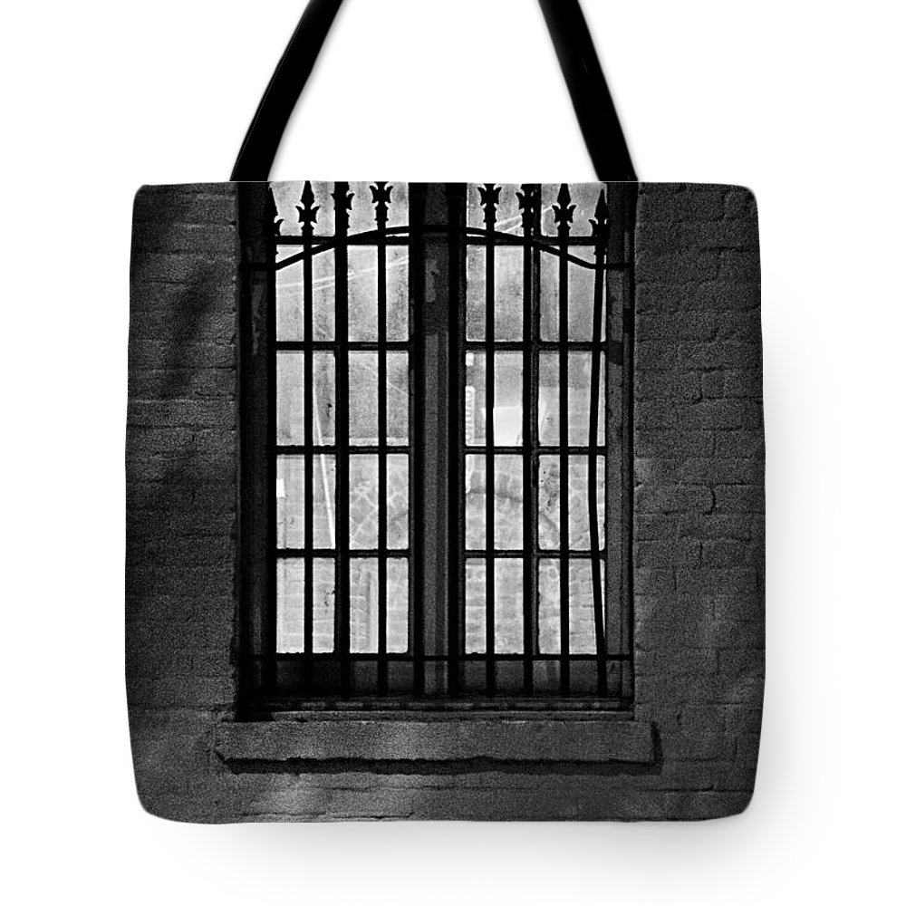Windows Tote Bag featuring the photograph Iberville Shadows by Lynn Terry