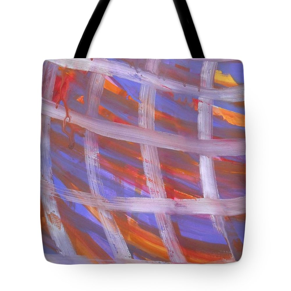 Abstract Tote Bag featuring the painting Tic Tac Toe by Denise Davis