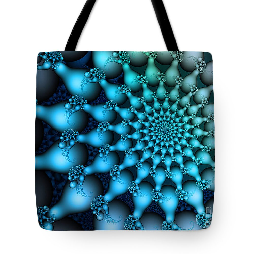 Fractal Tote Bag featuring the digital art Ice Age by Jutta Maria Pusl