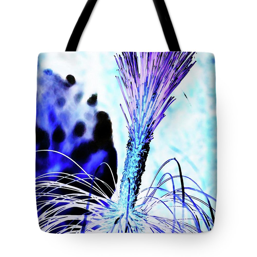 Ice Tote Bag featuring the digital art Ice Brush by Ronald Irwin