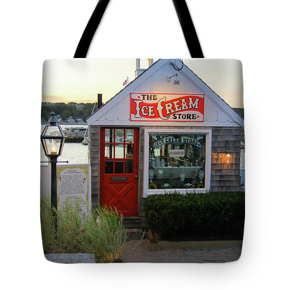 Shop Tote Bag featuring the photograph Ice Cream by J Havnen