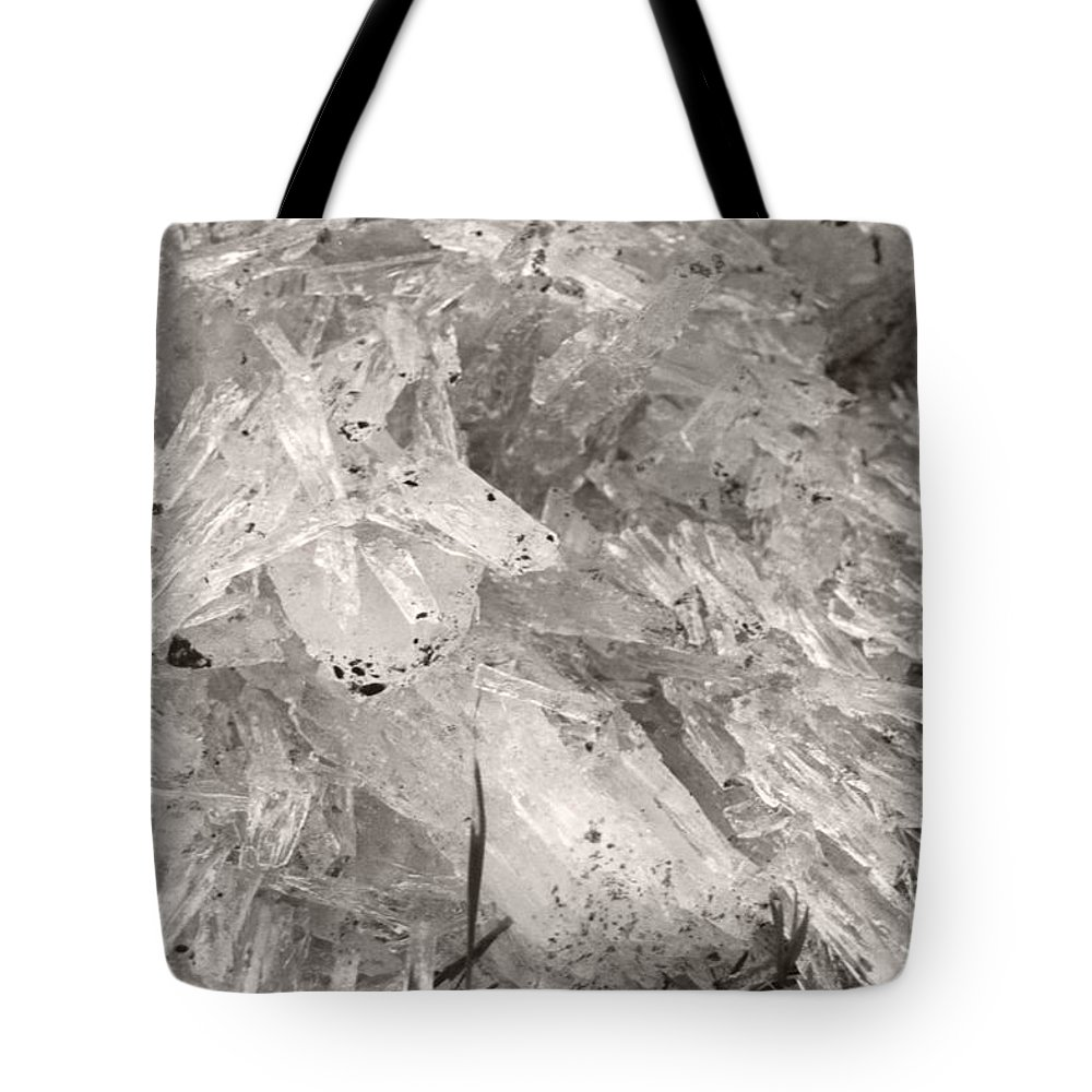 Tote Bag featuring the photograph Ice Crystals by Heather Kirk