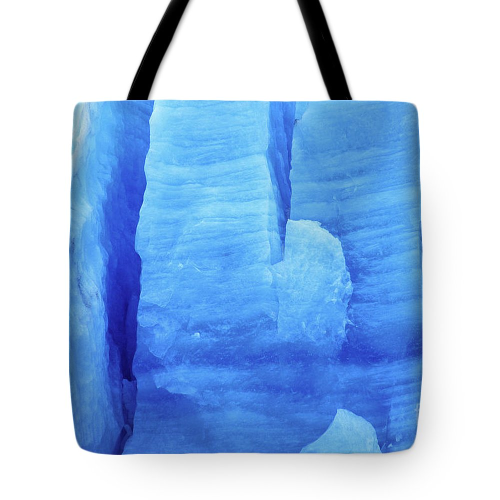 Glacier Tote Bag featuring the photograph Ice Formations by James Brunker