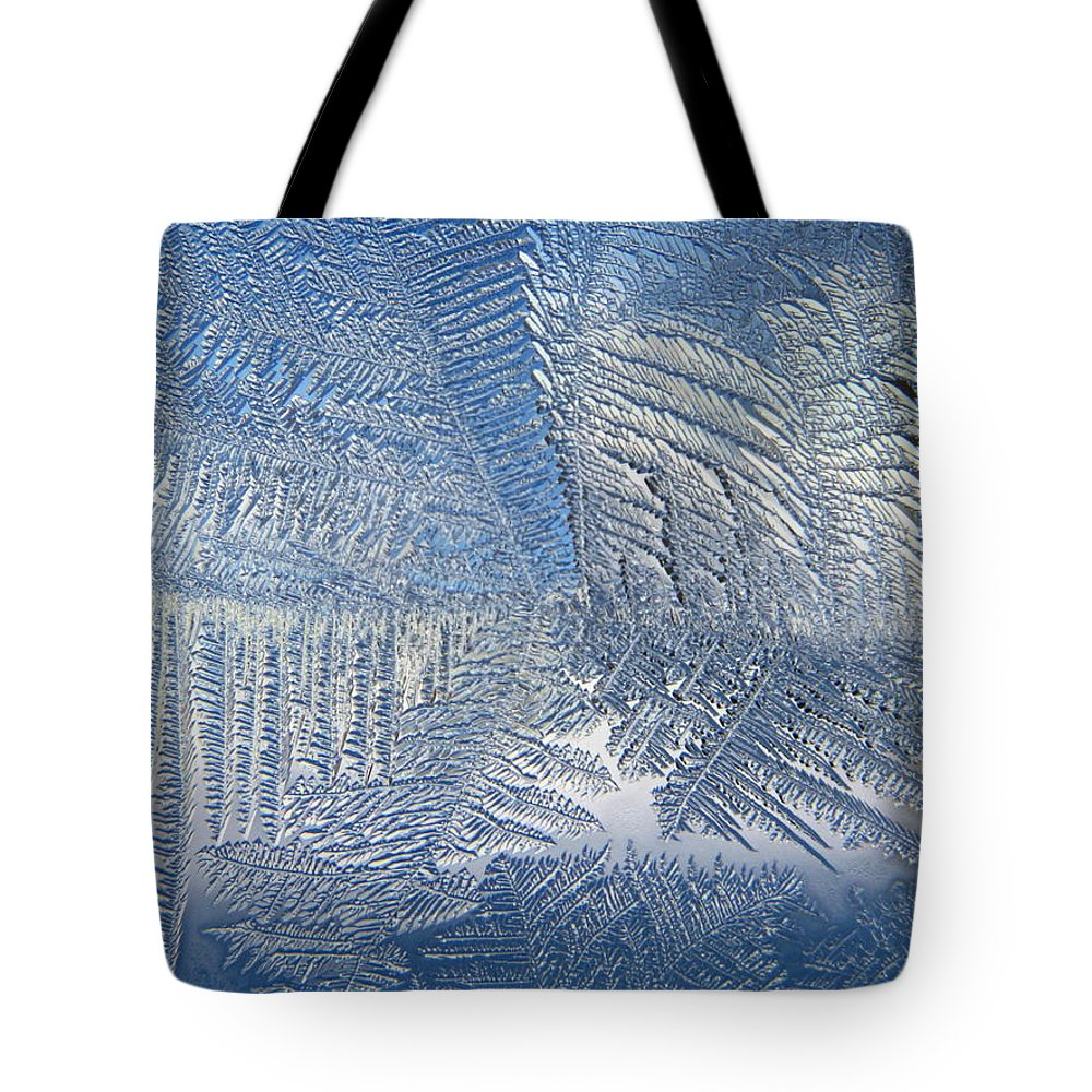 Ice Tote Bag featuring the photograph Ice Galore by Rhonda Barrett