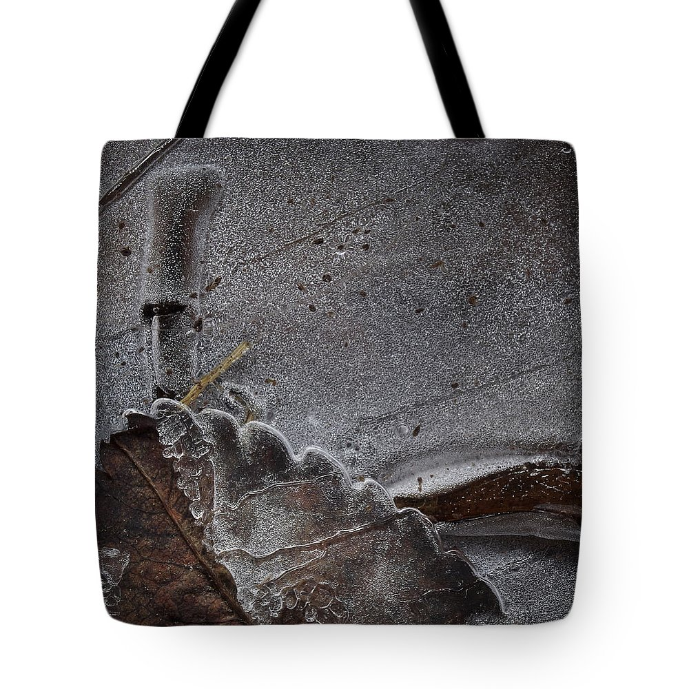 Abstract Tote Bag featuring the photograph Ice Plastification by Alexander Svetlov