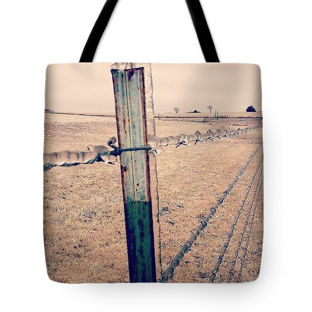 Winter Tote Bag featuring the photograph Ice Storm 2009 by Cheyene Vandament