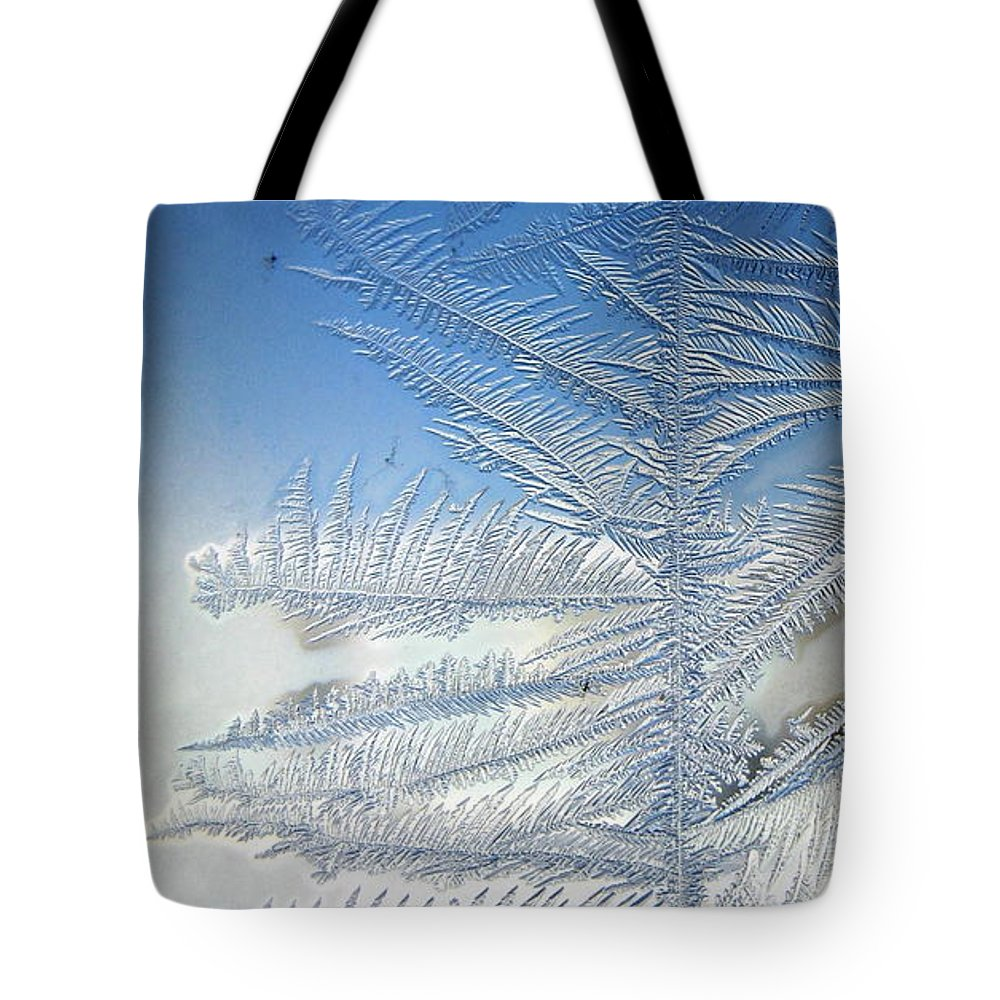 Ice Tote Bag featuring the photograph Ice Tree by Rhonda Barrett