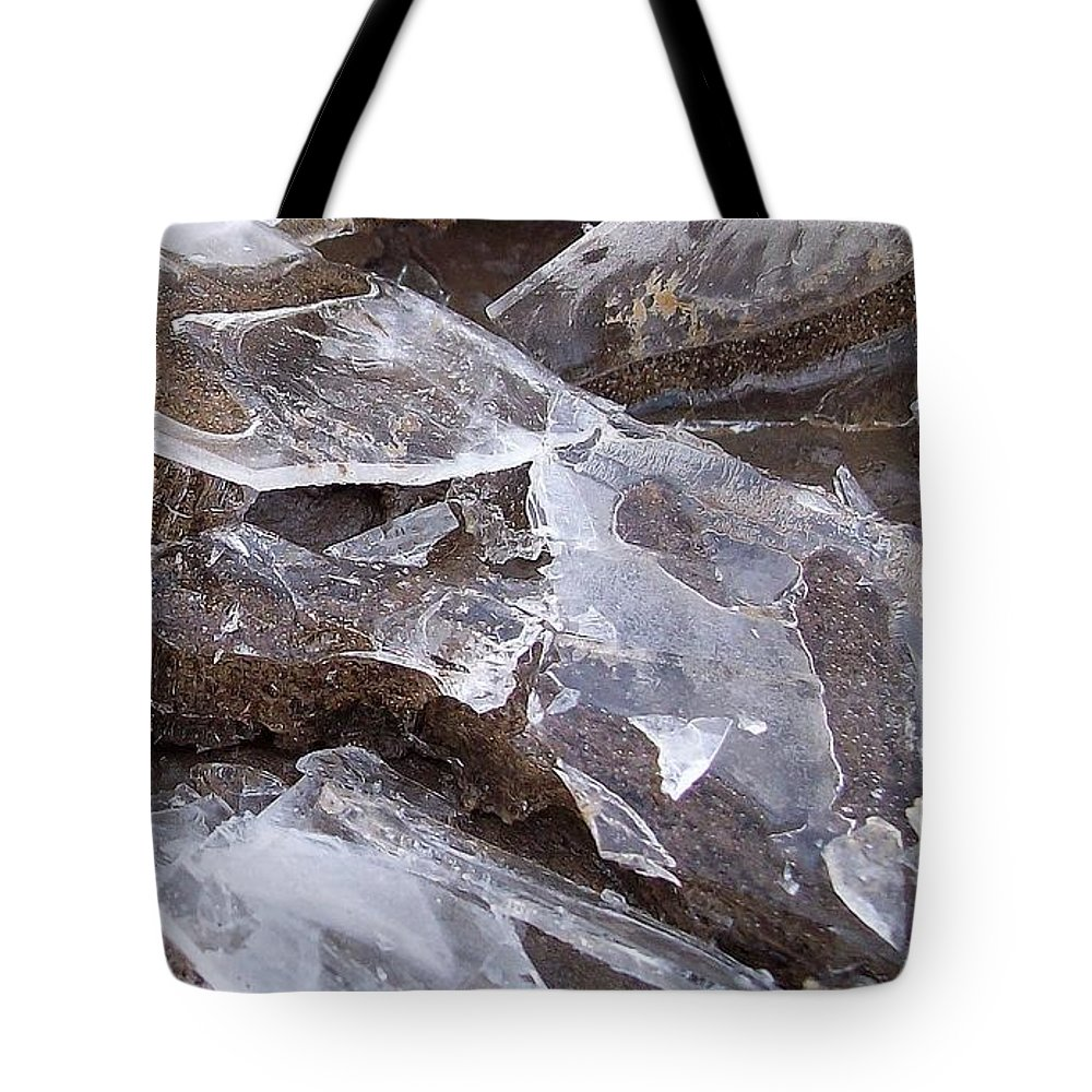 Ice Tote Bag featuring the photograph ice by Wolfgang Schweizer