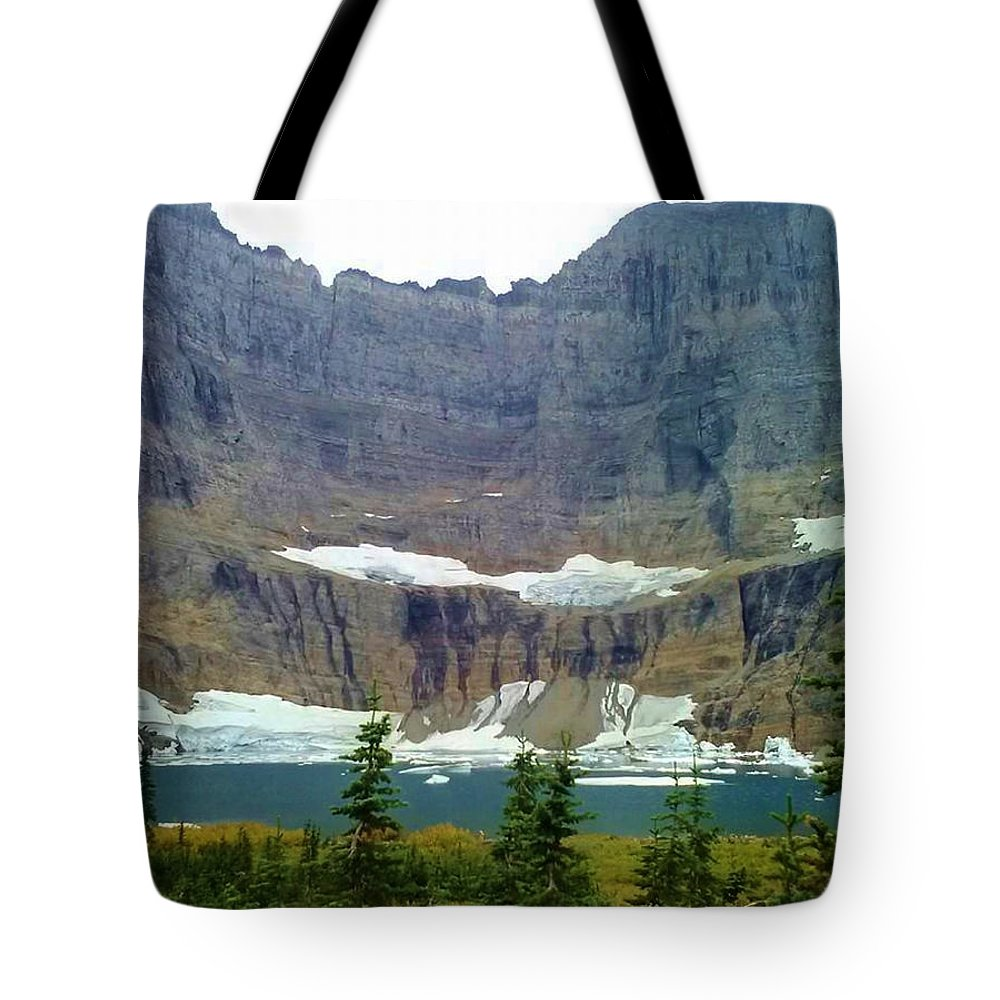 Mountains Tote Bag featuring the photograph Iceberg Lake by Eric Fellegy