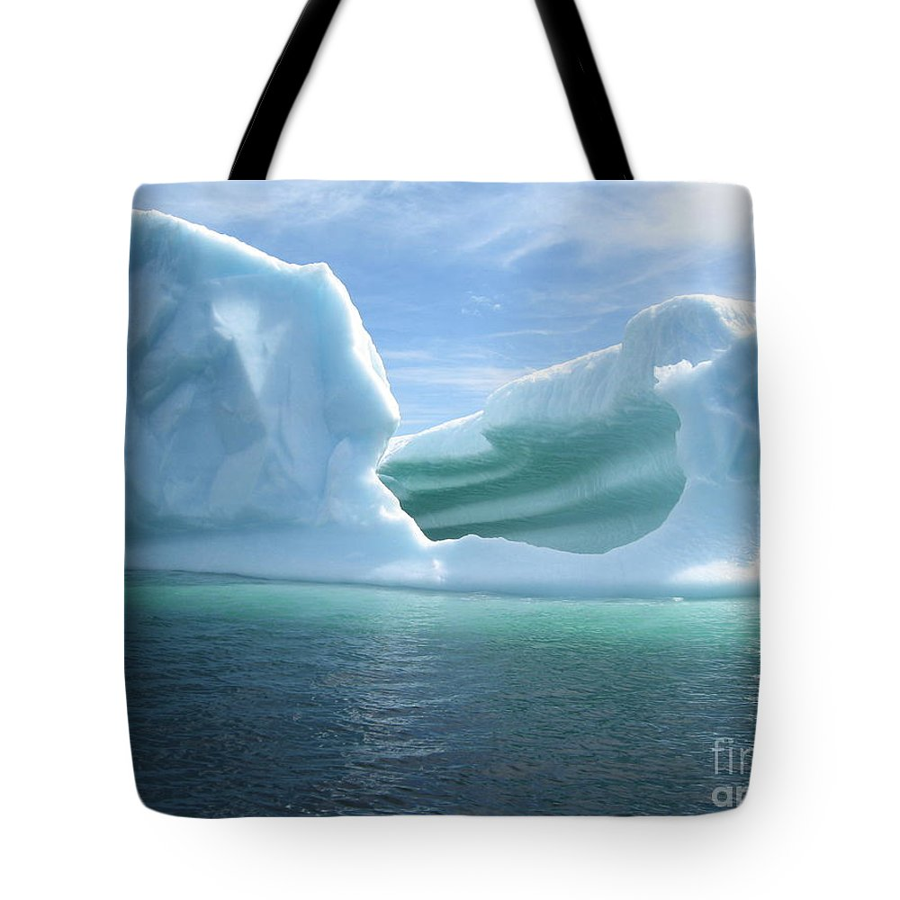 Photograph Iceberg Ocean Summer Newfoundland Tote Bag featuring the photograph Iceberg by Seon-Jeong Kim