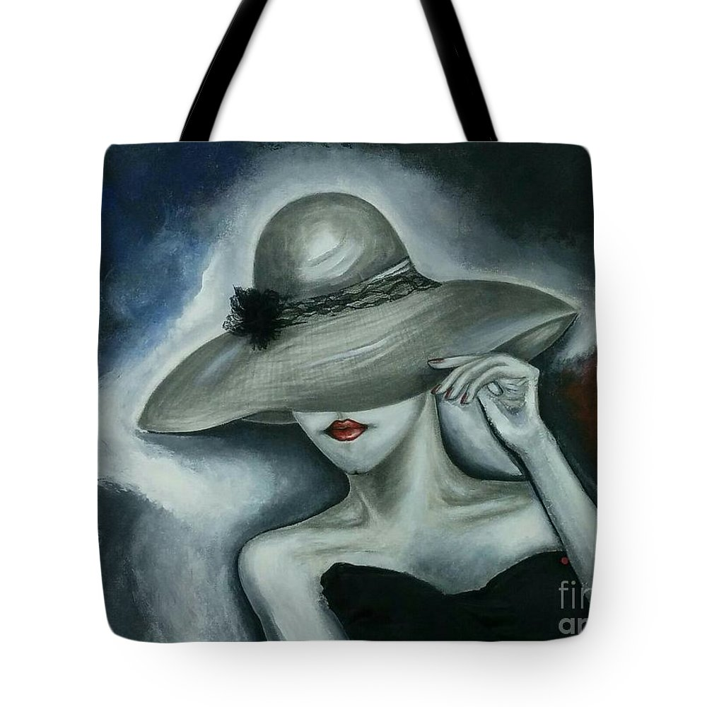 Woman Tote Bag featuring the painting Iced Charm by Despoina Ntarda