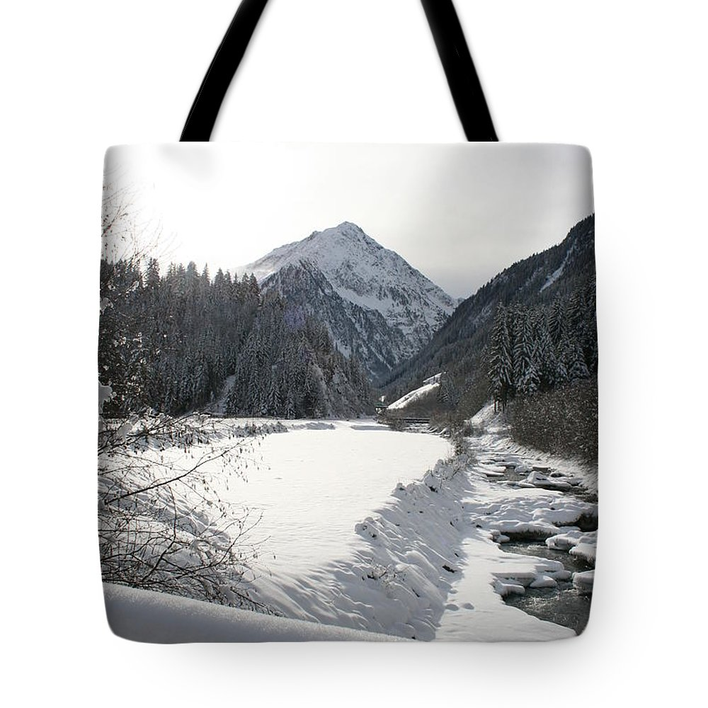 River Tote Bag featuring the photograph Iced River by Christiane Schulze Art And Photography