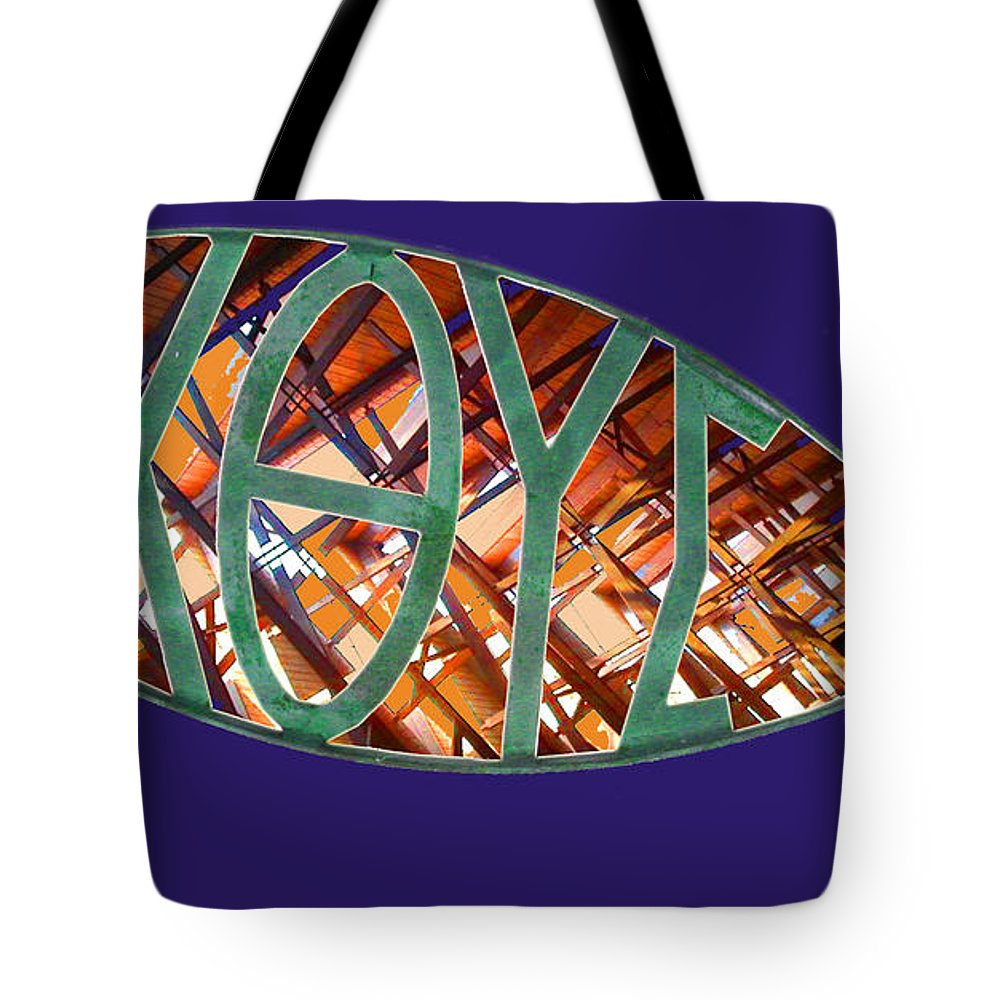 Fish Tote Bag featuring the photograph Ichthys Fish by Anne Cameron Cutri