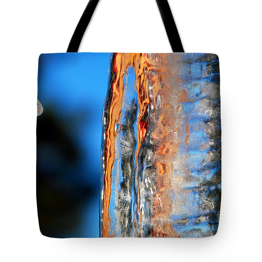 Abstract Tote Bag featuring the photograph Icicles by Carl Ellis