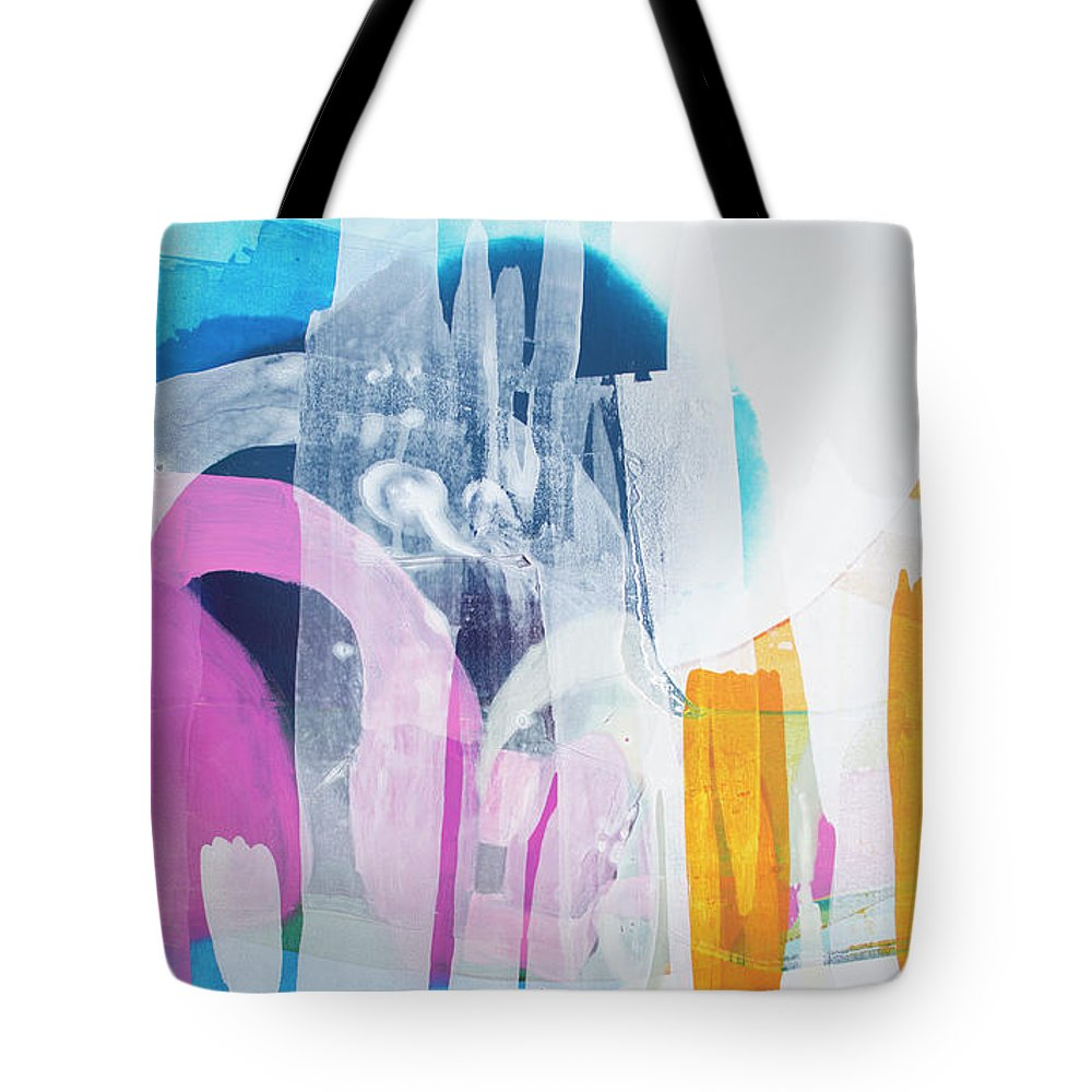 Abstract Tote Bag featuring the painting Icing On The Cake by Claire Desjardins