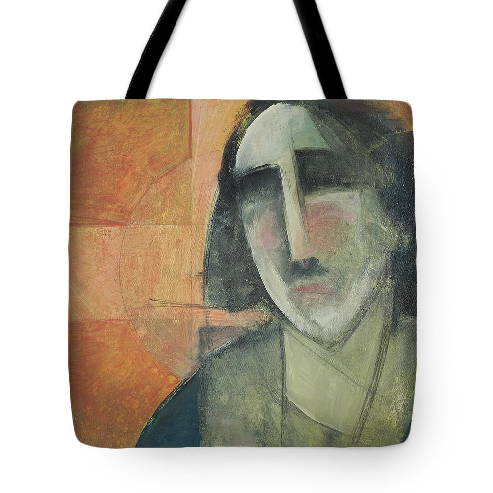 Christ Tote Bag featuring the painting Icon Number Five by Tim Nyberg