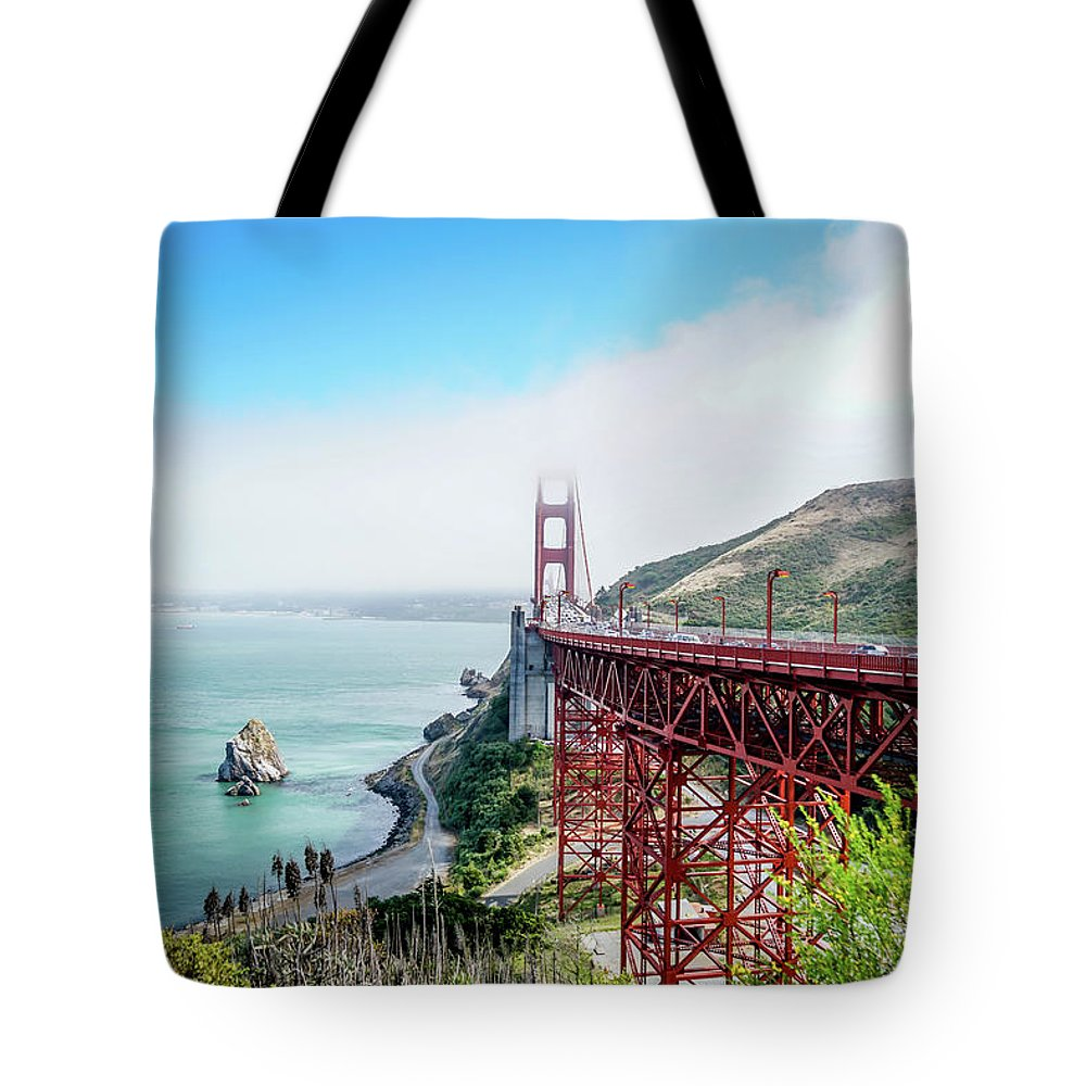 Bridge Tote Bag featuring the photograph Iconic Bridge by Ric Schafer