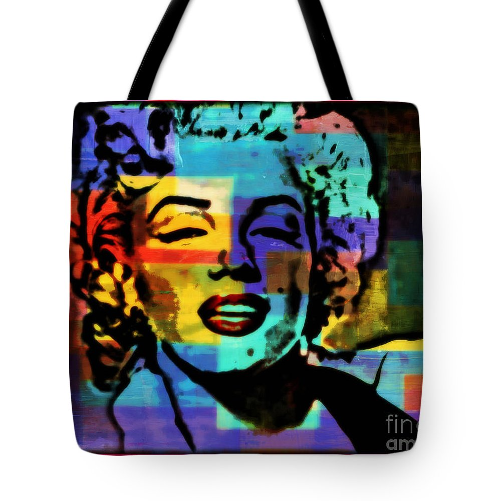 Marilyn Monroe Tote Bag featuring the painting Iconic Marilyn by Wbk