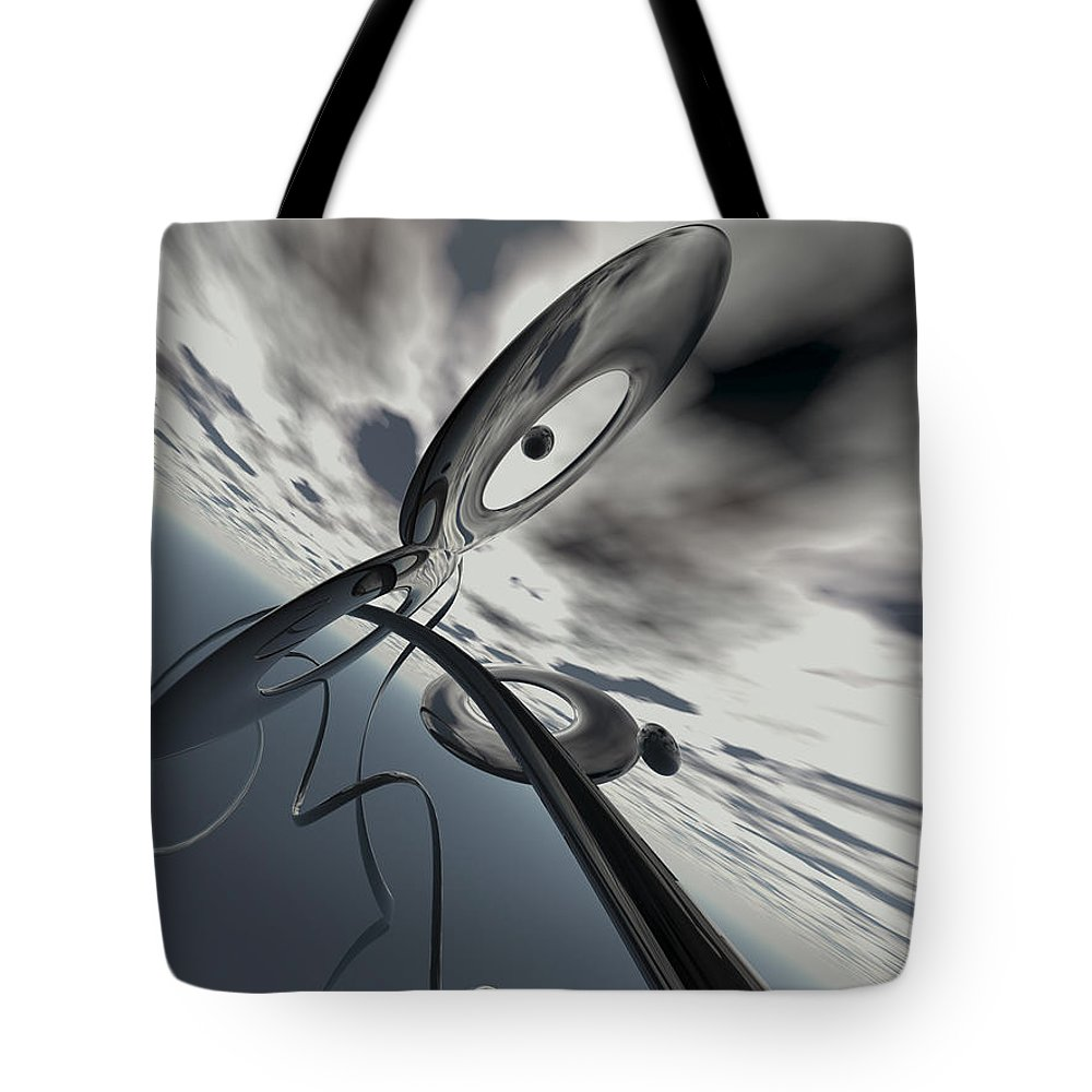 Scott Piers Tote Bag featuring the painting Id2a by Scott Piers