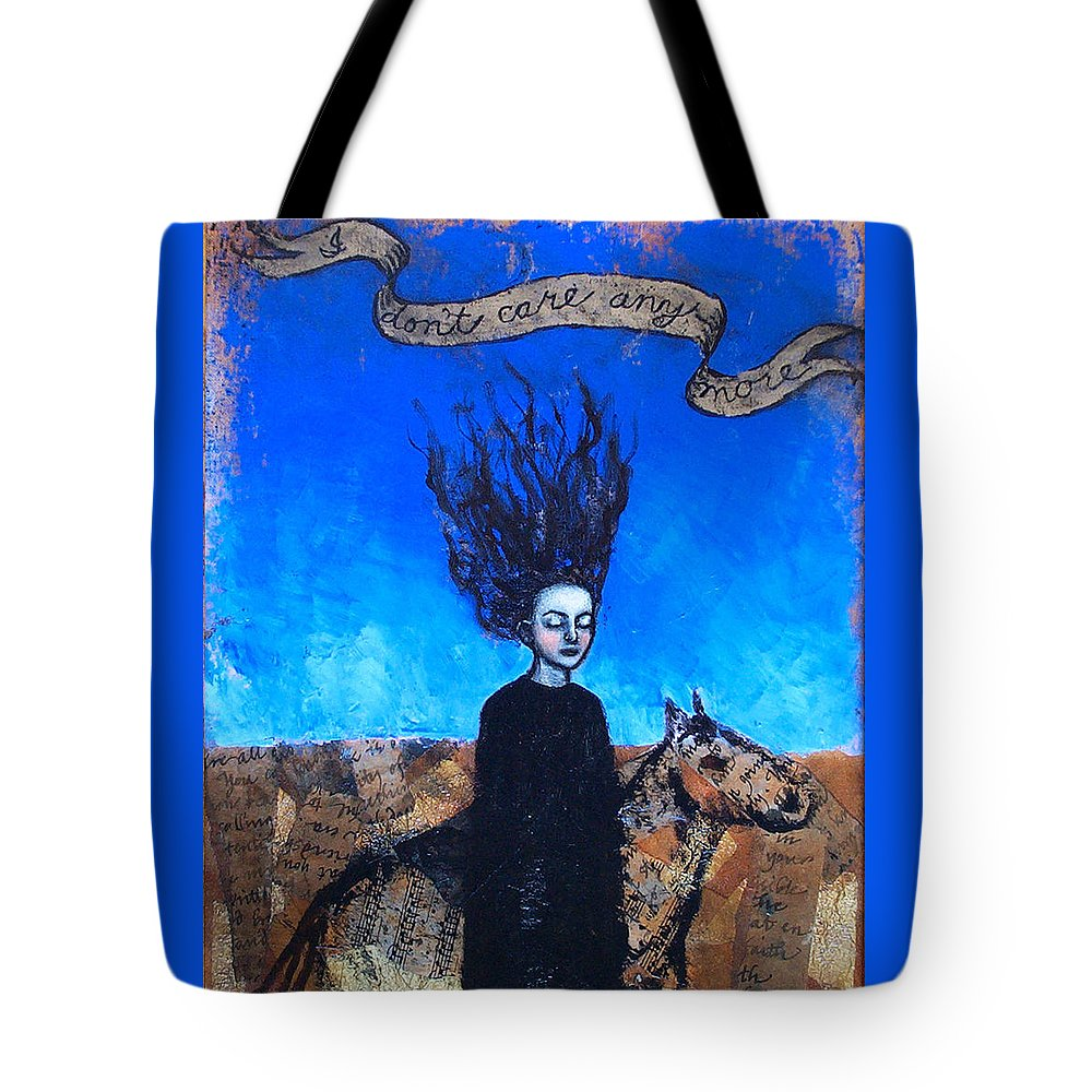 Tote Bag featuring the painting Idontcareanymore by Pauline Lim