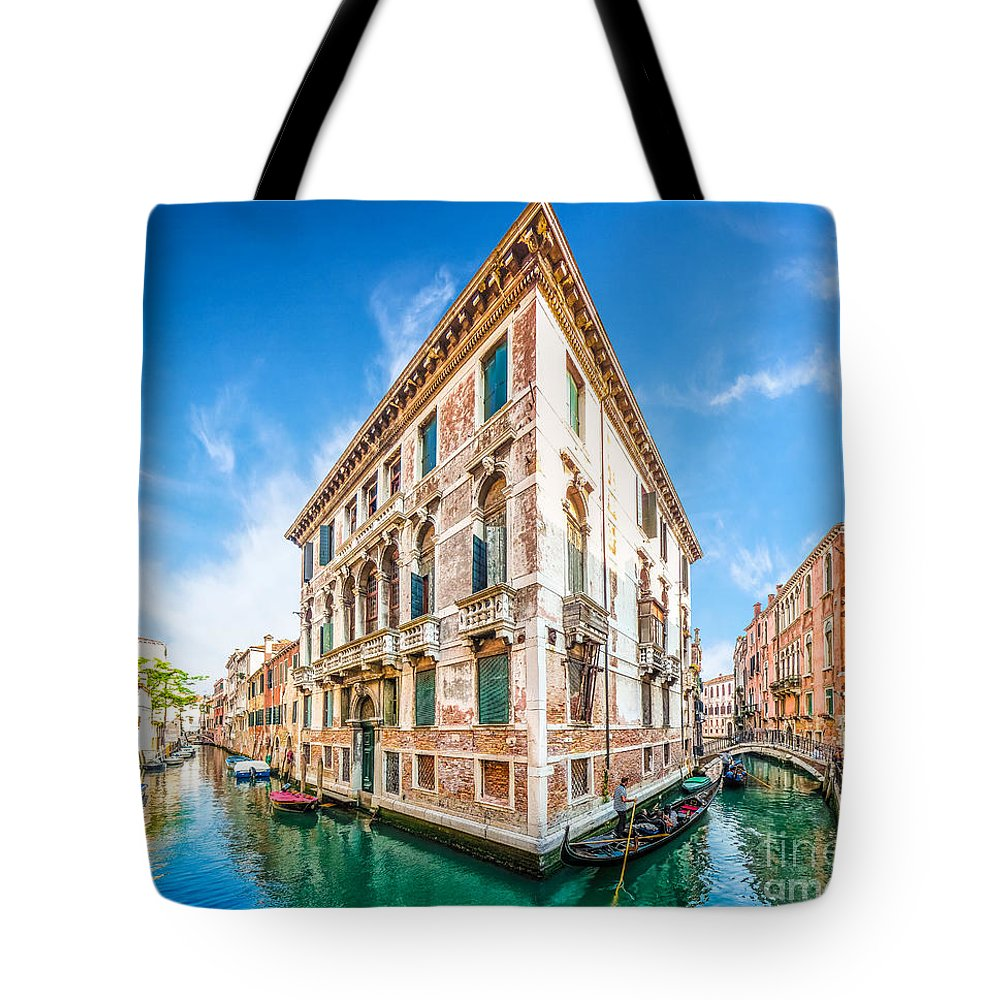 Alley Tote Bag featuring the photograph Idyllic Canal In Venice by JR Photography