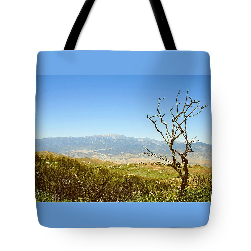 Idyllwild Tote Bag featuring the photograph Idyllwild Mountain View With Dead Tree by Ben and Raisa Gertsberg