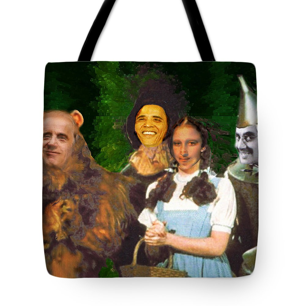 If I Only Had A Brain Tote Bag featuring the digital art If I Only Had a Brain by Seth Weaver
