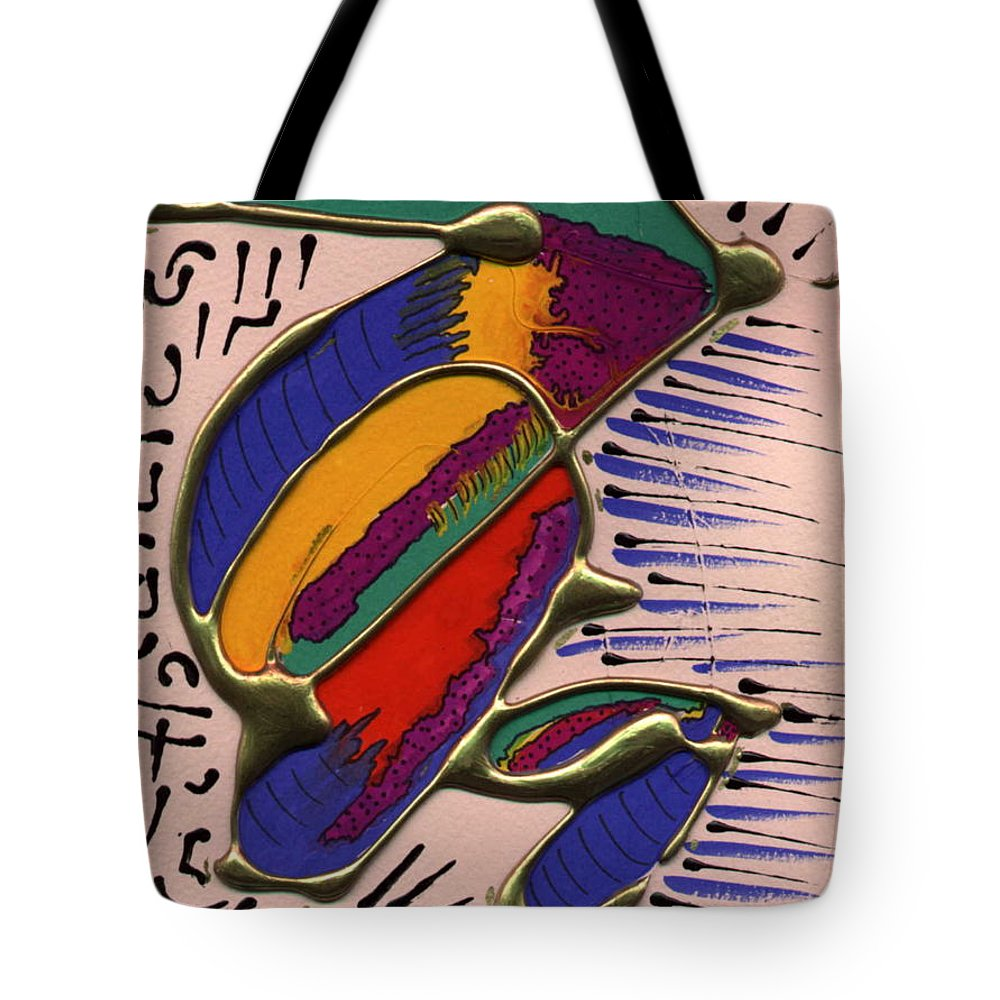 Abstract Tote Bag featuring the painting If Only I Could Fly by Angela L Walker