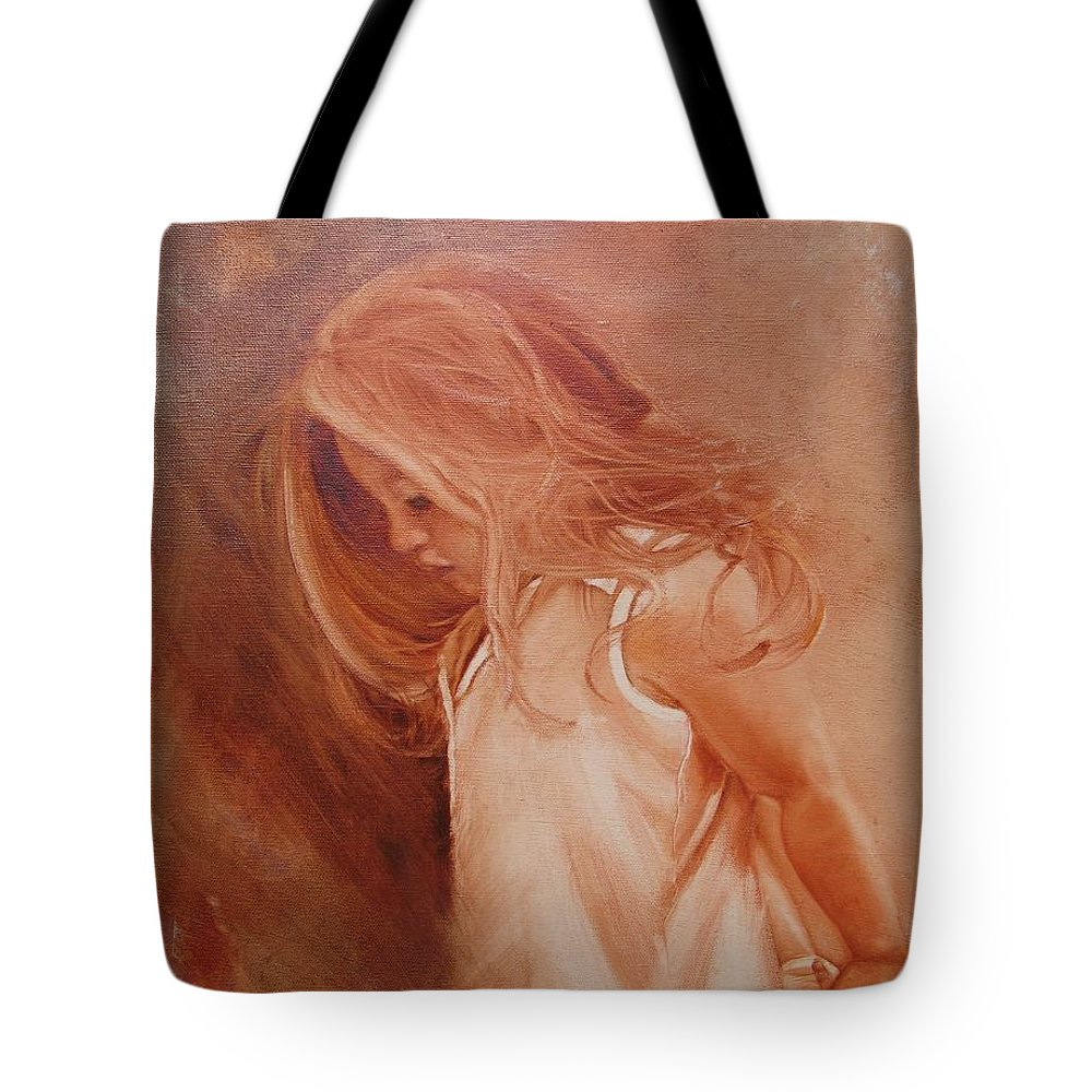 Portrait Tote Bag featuring the painting If Only by Laura Lee Zanghetti