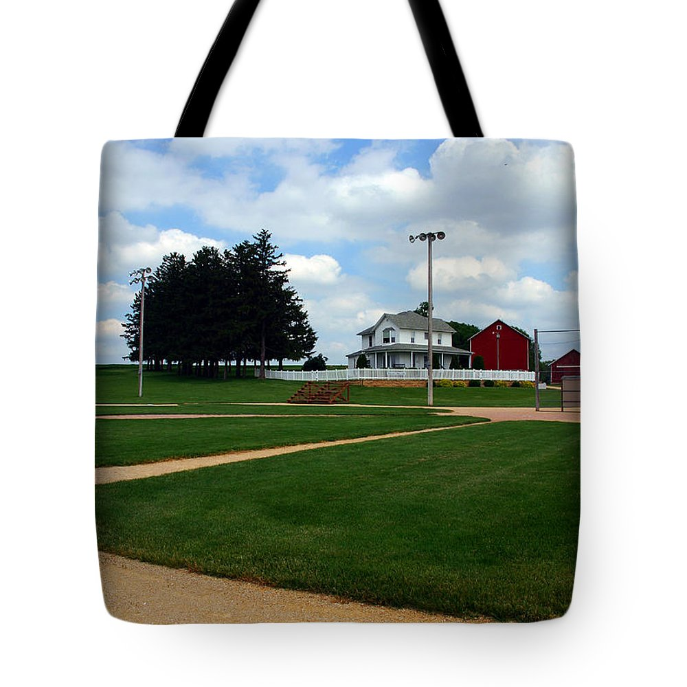 Field Of Dreams Tote Bag featuring the photograph If You Build It They Will Come by Susanne Van Hulst