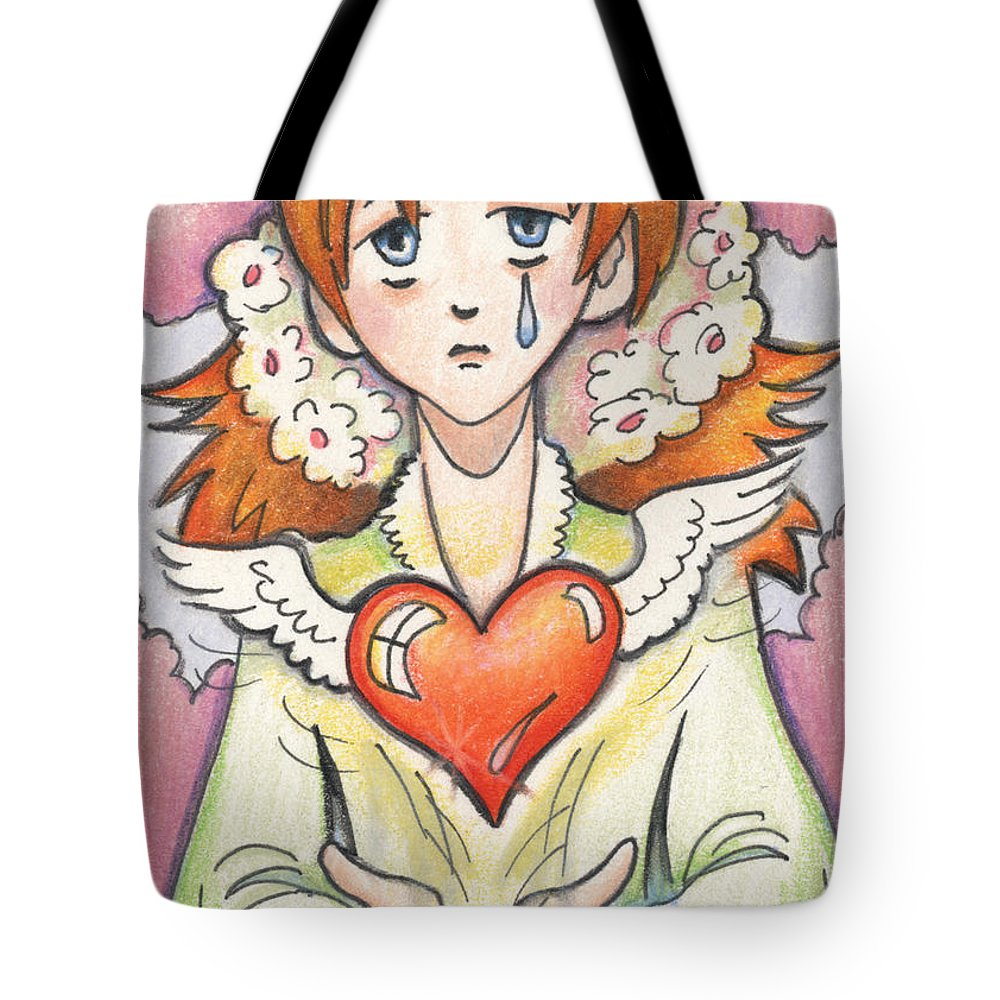 Atc Tote Bag featuring the drawing If You Love Someone Set Them Free by Amy S Turner