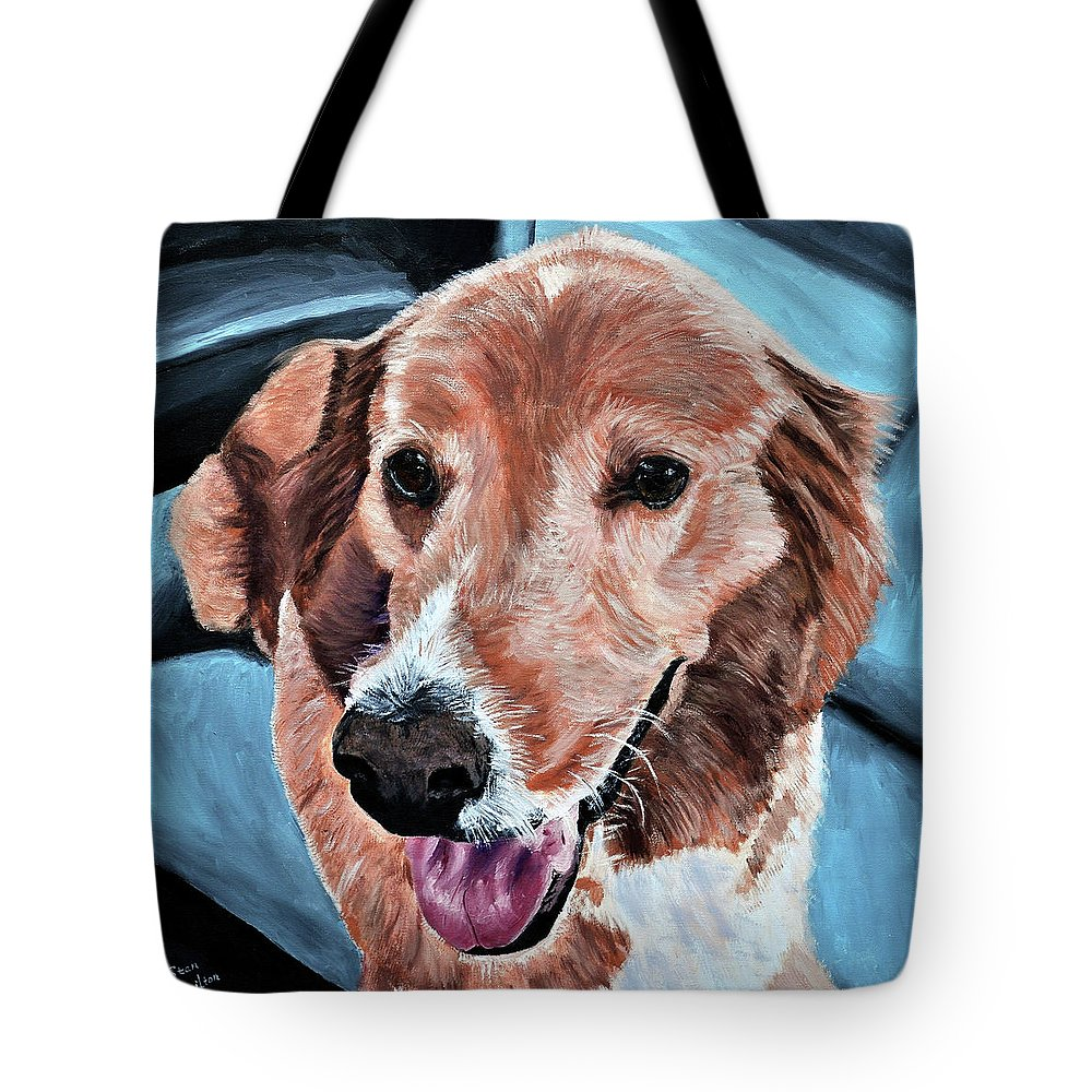 Dog Portrait Tote Bag featuring the painting Iggy by Stan Hamilton