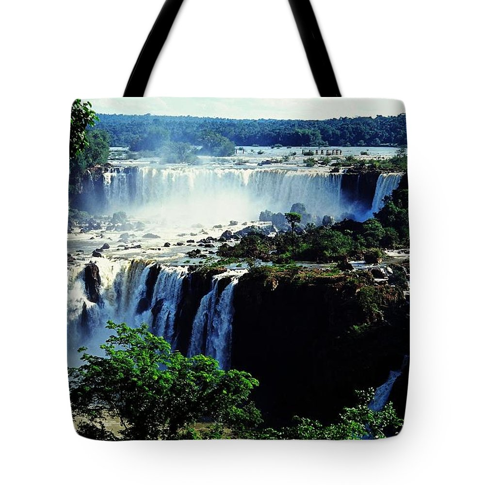 South America Tote Bag featuring the photograph Iguacu Waterfalls by Juergen Weiss