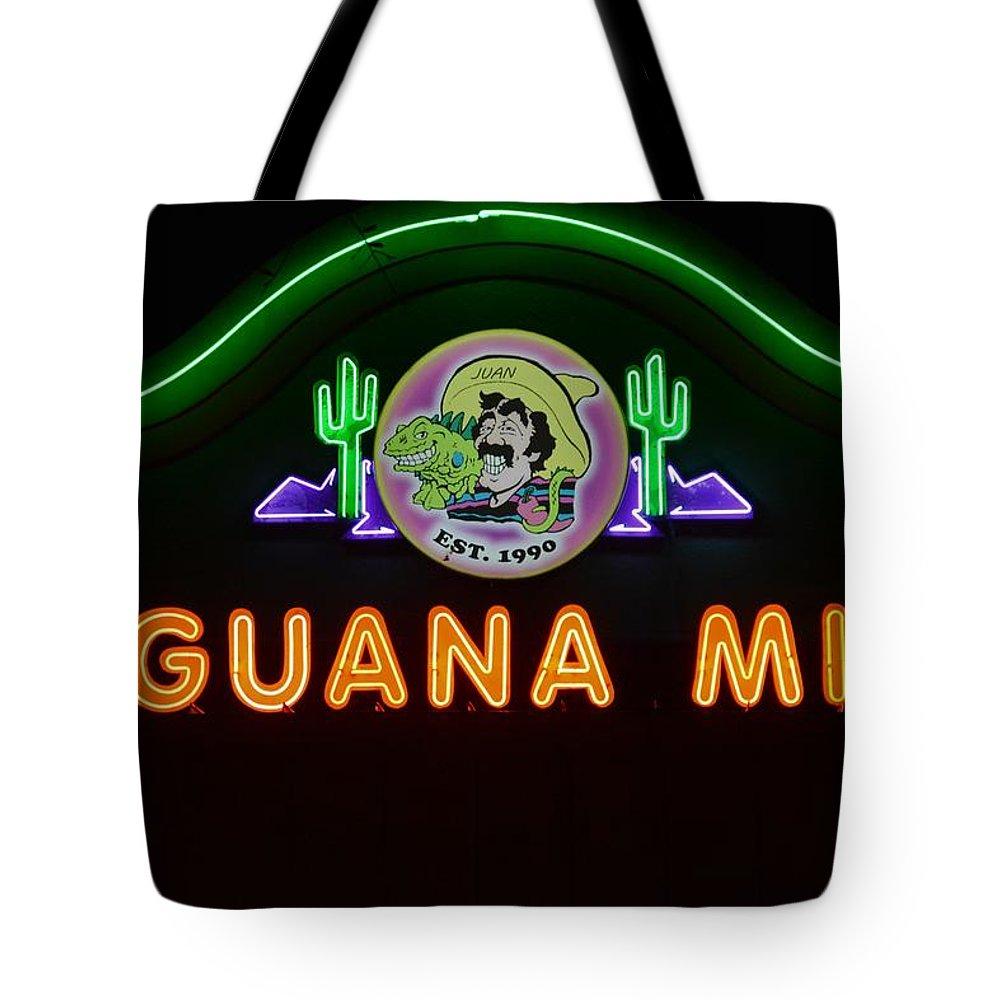 Iguana Mia Tote Bag featuring the photograph Iguana Mia by Don Columbus