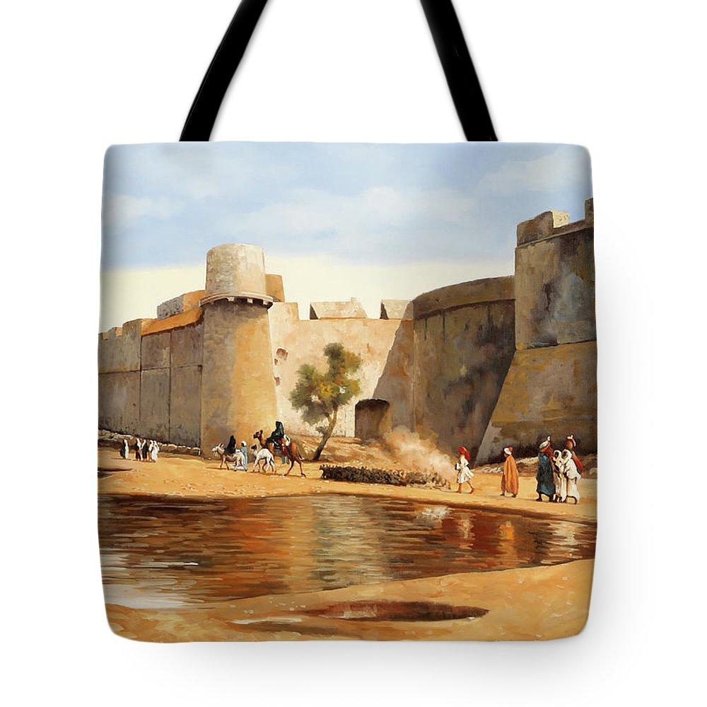 Caravan Paintings Tote Bags